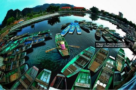 Bến thuyền ở khu du lịch Tràng An. (Ảnh: Nguyen H)