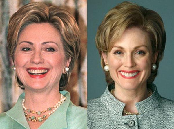Một trong những vai diễn đáng nhớ nhất của Julianne Moore đó là vai Hillary Clinton trong phim truyền hình The Special Relationship.