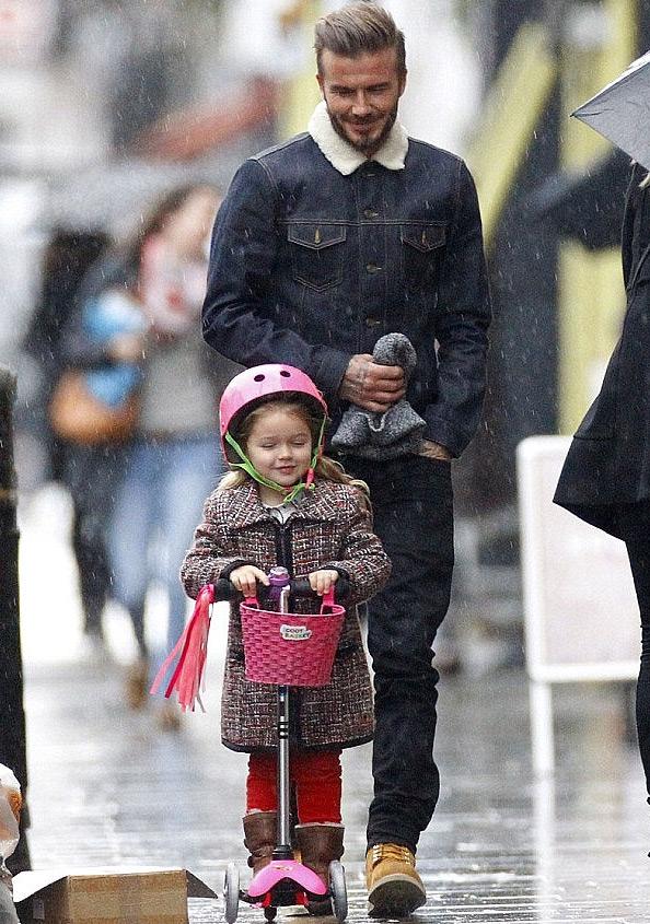 David Beckham tiết lộ, anh bị cô con gái út - Harper chê béo.