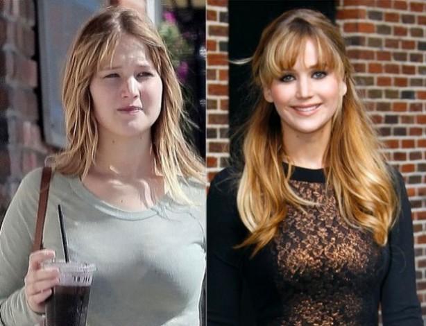 Thật khó tin khi người đẹp X-Men - Jennifer Lawrence lại có mặt mộc béo tròn và đầy đặn, khác xa so với hình ảnh trên màn ảnh hay thảm đỏ.