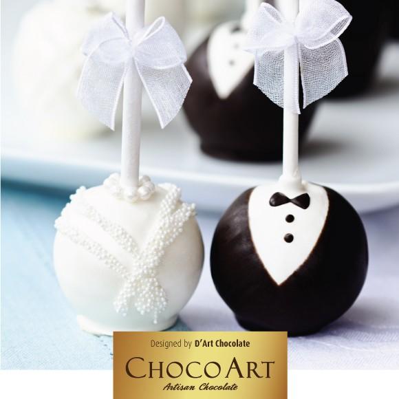 Những cây kẹo que ChocoArt Wedding tròn xinh, màu sắc tươi tắn, đa dạng (Ảnh: Zing)