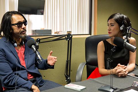 Timothy Linh Bùi và diễn viên Kathy Uyên.