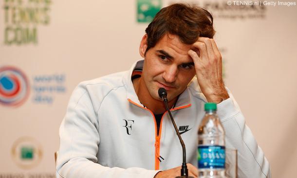 Federer trong cuộc hop báo trước thềm Indian Wells.