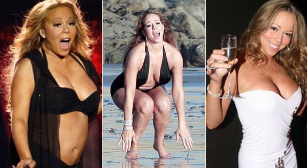 Càng có tuổi, Mariah Carey càng phát tướng. Nữ ca sĩ để mặc cân nặng tăng vùn vụt mà không có ý định tập luyện giữ dáng.