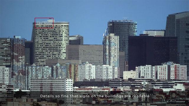 Người dùng thậm chí có thể đọc được dòng chữ trên tòa nhà cao tầng