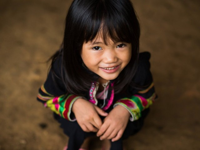 Nụ cười trong trẻo của em bé người Lô Lô thuộc Cốc San, huyện Bát Xát, Lào Cai.