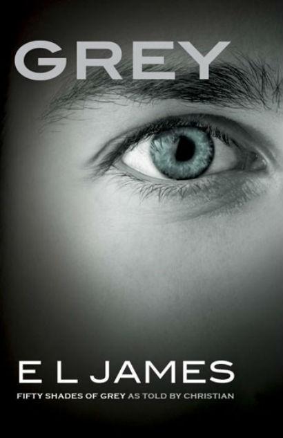 Bìa sách của Grey - phần mới của tiểu thuyết 50 sắc thái.