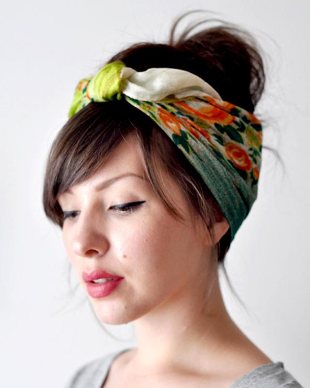 Băng đô tóc bằng khăn thịnh hành