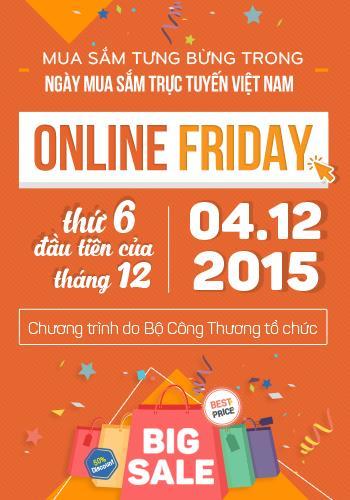 Nhiều đơn vị kinh doanh thương mại điện tử đã sẵn sàng với hơn 63.500 đầu sản phẩm khuyến mãi dành cho Ngày Online Friday 2015 (Ảnh: onlinefriday)