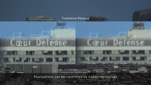 So sánh khi bật và tắt tính năng Turbulence Removal