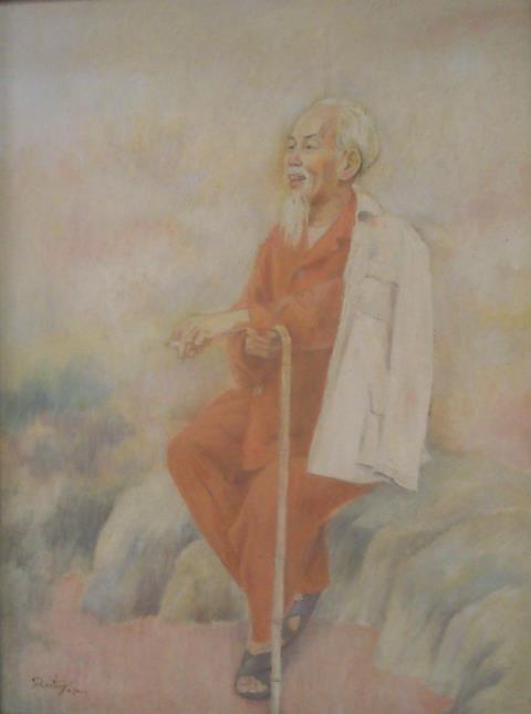 Giang sơn, tranh sơn dầu của Trần Tuy.