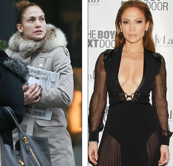 Jennifer kết hợp áo jacket rộng với quần legging ôm sát và giày thể thao năng động.
