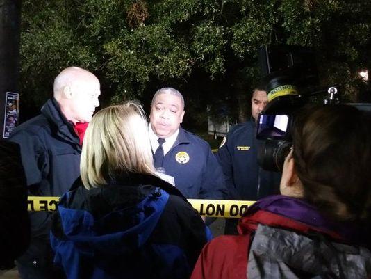 Thị trưởng thành phố New Orleans đã trực tiếp đến hiện trường sau khi biết tin