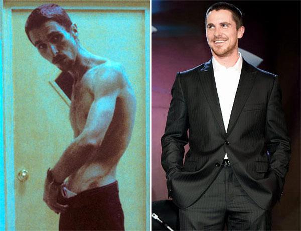 Christian Bale nổi tiếng là nam diễn viên hy sinh vì nghệ thuật. Anh đã giảm hơn 28kg bằng cách uống cà phê, hút thuốc lá và ăn một quả táo mỗi ngày để đóng The Machinist (2003).