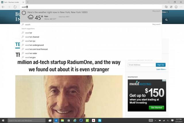 Trợ lý ảo Cortana sẽ giúp người dùng tìm kiếm dễ dàng hơn
