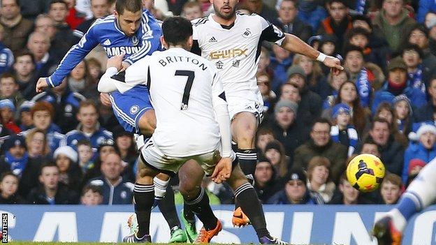 Chelsea từng đánh bại Swansea với tỷ số 4-2 trong trận lượt đi