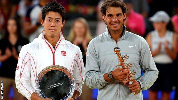 Kei Nishikori để thua rất đáng tiếc trước Nadal trong trận chung kết Madrid Open 2014