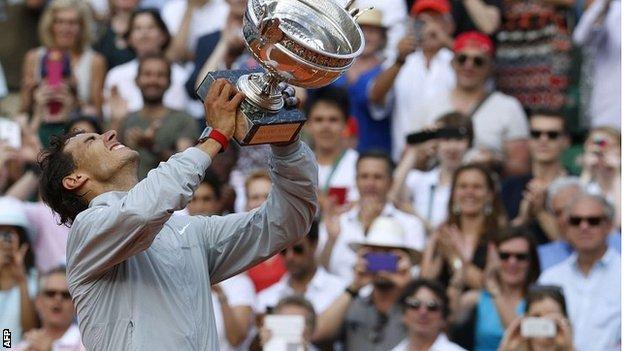 Nadal đã có 9 chức vô địch Pháp mở rộng.