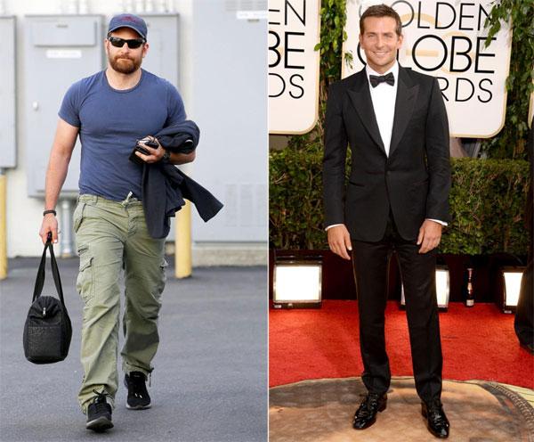 Bradley Cooper tăng 18kg trong vòng 10 tuần để vào vai xạ thủ bắn tỉa Chris Kyle trong American Sniper. Ngôi sao 40 tuổi dành nhiều thời gian trong phòng tập, đồng thời chăm chỉ thực hành chế độ dinh dưỡng - một tiếng ăn một lần, khoảng 8.000 calo mỗi ngày.