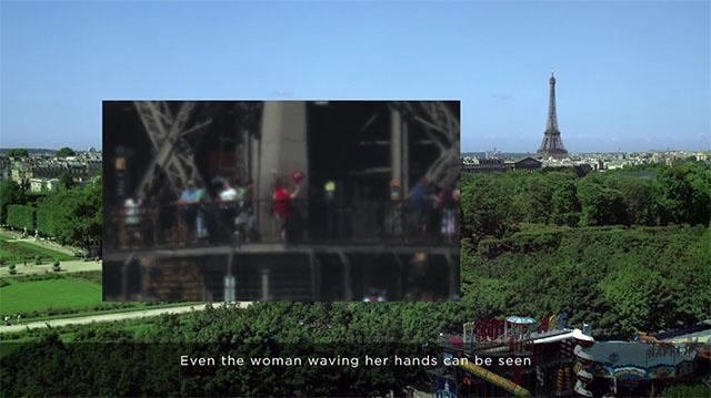Người dùng có thể thấy rõ hình ảnh những người đang đứng quan sát trên tháp
