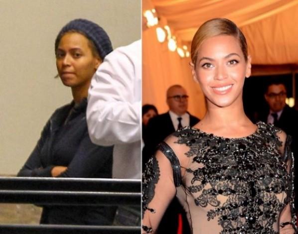 Nhìn Beyonce với vẻ mặt đời thường như thế này, bạn sẽ khó nhận ra đó là nữ ca sĩ nổi tiếng với những màn trình diễn nóng bỏng.