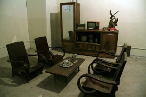 Phòng khách của một gia đình ở Hà Nội thời bao cấp.