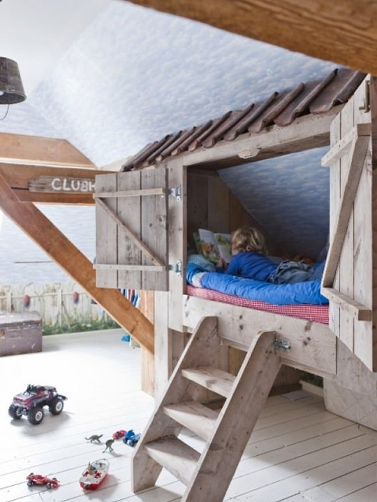 Sở hữu chiếc giường đáng yêu như thế này chắc chắn là một giấc mơ đối với bất kỳ đứa trẻ nào