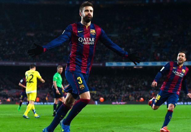 Gerard Pique đã ấn định chiến thắng 3-1 cho Barcelona