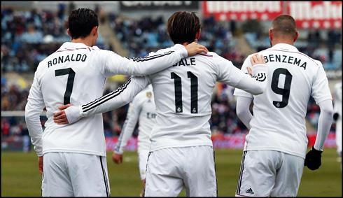 Tam tấu của Real Madrid: Ronaldo - Bale - Benzema cũng có phong độ ấn tượng không kém