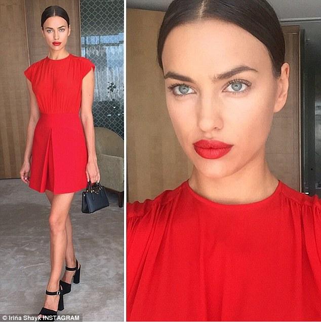 Irina đăng tải hình ảnh trên tài khoản Instagram cá nhân trước khi tham dự sự kiện.