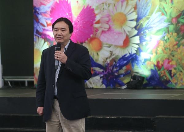 Phó Tổng giám đốc Phạm Việt Tiến phát biểu khai mạc cuộc thi
