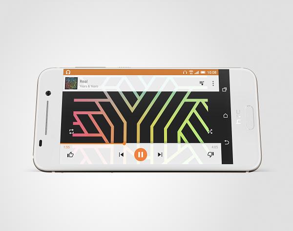HTC One A9 được trang bị màn hình 5 inch AMOLED với công nghệ Corning Gorilla Glass