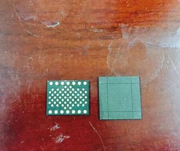Mặt sau chip A9