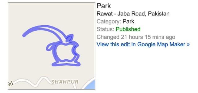 Người dùng có thể đã sử dụng tính năng Map Maker để tạo nên hình ảnh trên Google Maps