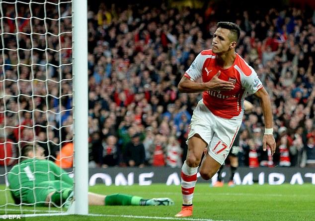 Alexis tạo nên sức bật chp Arsenal mùa này.