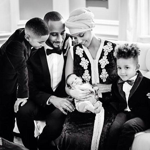 Gia đình hạnh phúc của Alicia Keys.