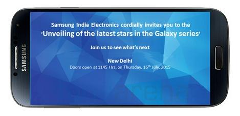 Samsung gửi thư mời tham dự sự kiện ra mắt Galaxy J5 và Galaxy J7 tại Ấn Độ