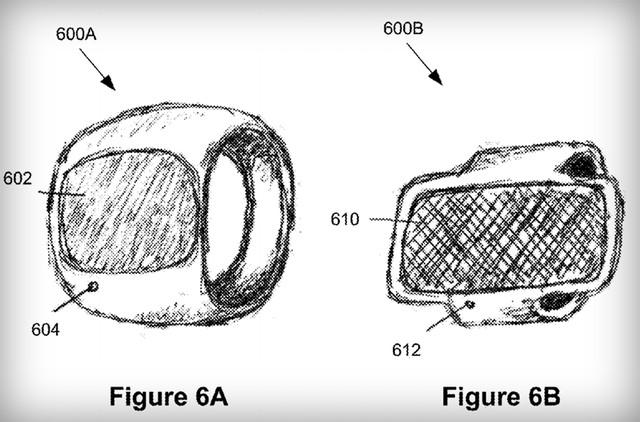 Bản vẽ phác thảo nhẫn thông minh của Apple