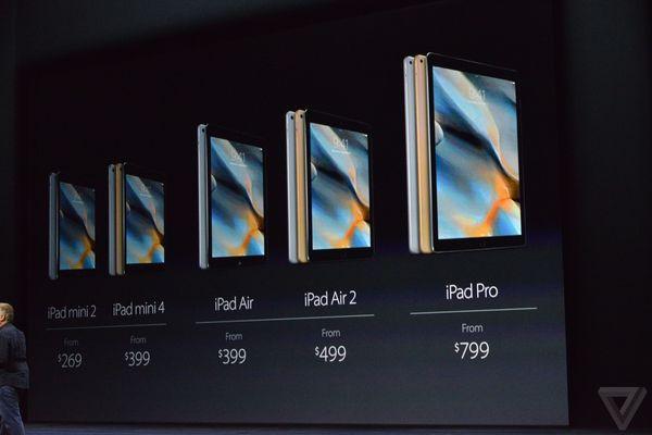 iPad Pro được bán ra với giá khởi điểm từ 799 USD.