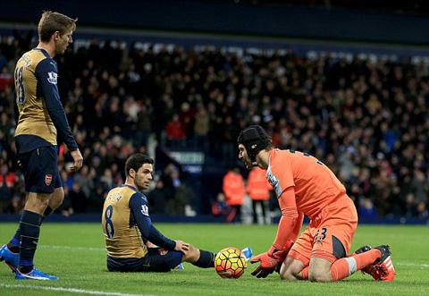 Arsenal sụp đổ vì tinh thần yếu