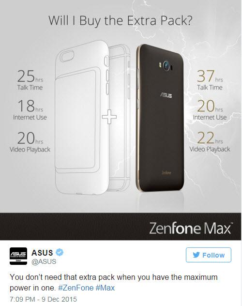 Asus so sánh thời lượng sử dụng của ZenFone Max với iPhone 6 được trang bị ốp sạc mới của Apple