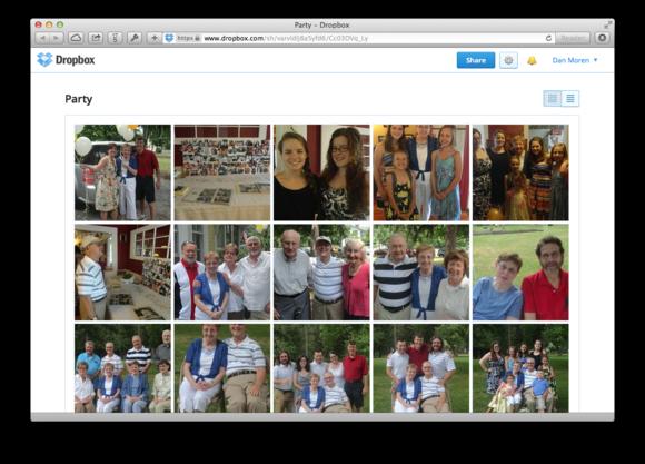 Dropbox cho phép người dùng chia sẻ ảnh dễ dàng hơn