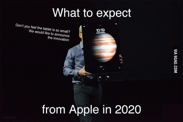Hình ảnh vui về chiếc iPad mới sẽ được Apple trình làng vào năm 2020