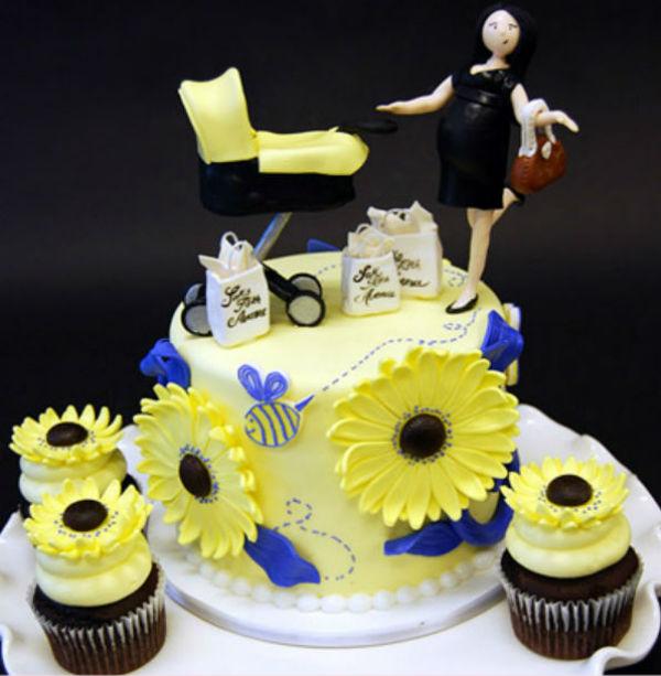 Chiếc bánh như thế này sẽ là món quà tuyệt vời cho các bà bầu hay các bà mẹ trẻ mới sinh con.