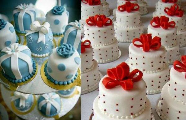 Hay những chiếc bánh trở thành hình những gói quà ngộ nghĩnh.