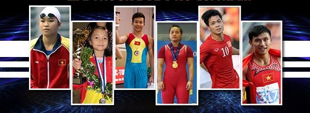 Các ứng cử viên cho danh hiệu VĐV trẻ xuất sắc nhất