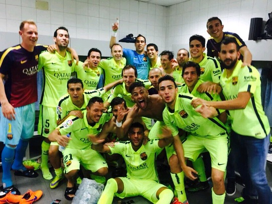Cả đội đang hướng tới chức vô địch Copa del Rey và Champions League sắp tới.