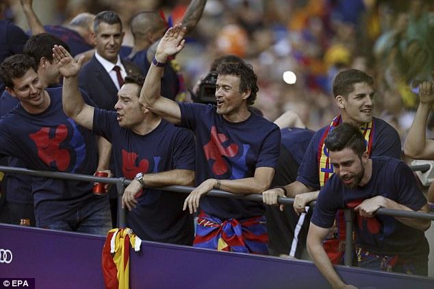HLV Enrique đã có sự khởi đầu mỹ mãn với Barca khi giành cú ăn ba ngay trong năm đầu dẫn dắt.