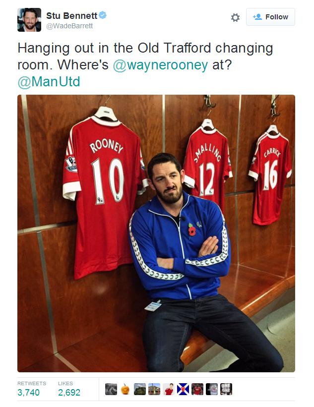 Barrett gửi lời thách đấu với Rooney trên Twitter