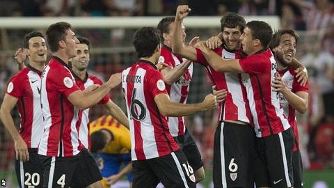 Các cầu thủ Bilbao đang nắm lợi thế quá lớn để có thể đăng quang Siêu Cúp Tây Ban Nha 2015